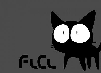 cats, FLCL Fooly Cooly, simple background - random desktop wallpaper
