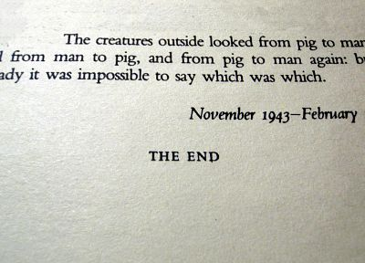 quotes, Animal Farm, books, George Orwell, typewriters - random desktop wallpaper