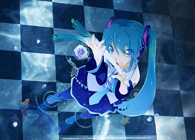Vocaloid, Hatsune Miku, blue hair, anime girls - desktop wallpaper