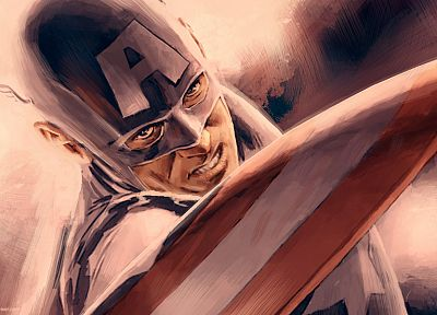 paintings, comics, Captain America, Marvel Comics, Marvel, Steve Rogers - related desktop wallpaper