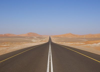 deserts, roads, desert road - random desktop wallpaper