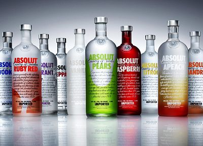 vodka, bottles, alcohol, Absolut, drinks, liquor - related desktop wallpaper