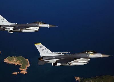aircraft, military, F-16 Fighting Falcon - random desktop wallpaper