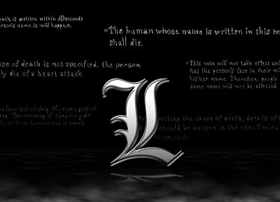 Death Note, L., anime - related desktop wallpaper