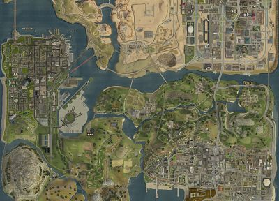 Grand Theft Auto, maps - random desktop wallpaper