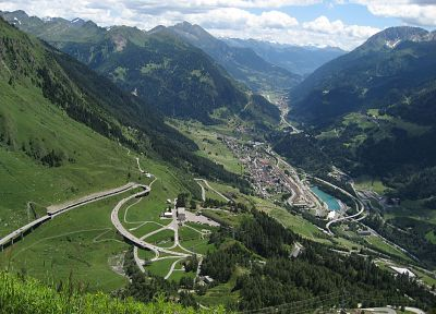 mountains, landscapes, valleys, Switzerland, Gotthard Pass - related desktop wallpaper