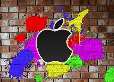 multicolor, wall, Apple Inc. - related desktop wallpaper