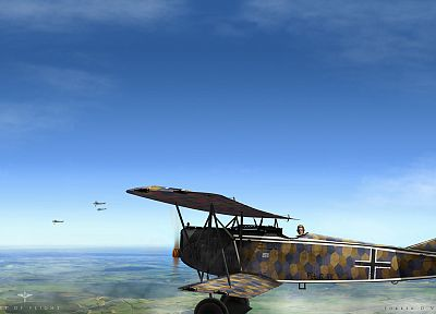 aircraft, fokker, World War II, World War I, artwork, D.VII, warplanes - random desktop wallpaper