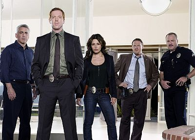 TV, movies, police, Sarah Shahi, Damian Lewis, Life (TV series), television cast - random desktop wallpaper