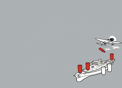 minimalistic, funny, Threadless, vehicles, simple background, battleships - desktop wallpaper