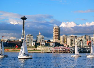 Seattle, vehicles, sailboats - random desktop wallpaper