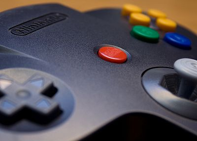Nintendo, video games, controllers, Nintendo 64 - random desktop wallpaper