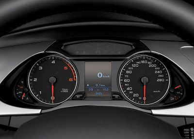 cars, dashboards, Audi A4, German cars - desktop wallpaper