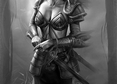 fantasy art, armor, Neverwinter Nights, Aribeth - random desktop wallpaper