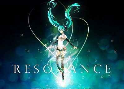 Vocaloid, Hatsune Miku, twintails, Miku Append, Vocaloid Append, detached sleeves - desktop wallpaper
