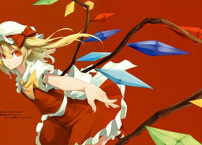 Touhou, vampires, Flandre Scarlet, Shingo (Missing Link) - random desktop wallpaper