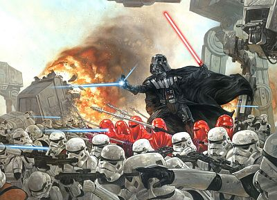 Star Wars, stormtroopers, Darth Vader, dark side - random desktop wallpaper