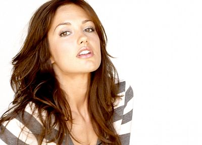 brunettes, women, models, Minka Kelly - desktop wallpaper