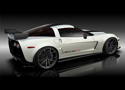 concept art, track, Chevrolet Corvette, Chevrolet Corvette Z06X - related desktop wallpaper