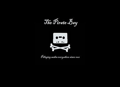 The Pirate Bay, black background - random desktop wallpaper