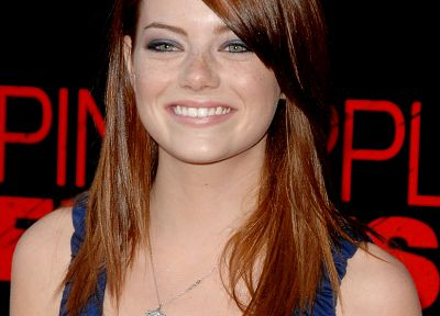 women, Emma Stone, smiling - random desktop wallpaper