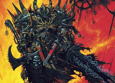 Warhammer, weapons, fantasy art, armor, artwork, games - related desktop wallpaper