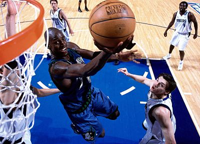 Minnesota, Dallas, NBA, basketball, Kevin Garnett, Minnesota Timberwolves, wolves - random desktop wallpaper