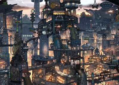 cityscapes, futuristic, buildings, surreal, imperial boy - related desktop wallpaper