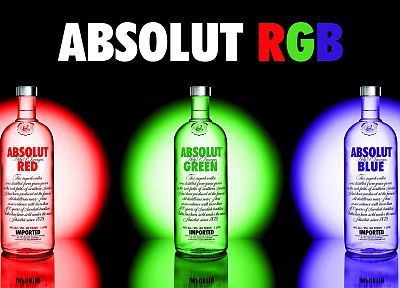 green, blue, red, multicolor, Absolut - random desktop wallpaper