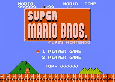 Nintendo, video games, Super Mario Bros., retro games - desktop wallpaper