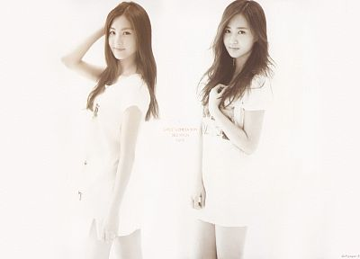 women, Girls Generation SNSD, Seohyun, singers, Kwon Yuri - random desktop wallpaper