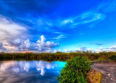 landscapes, nature, HDR photography, blue skies - desktop wallpaper