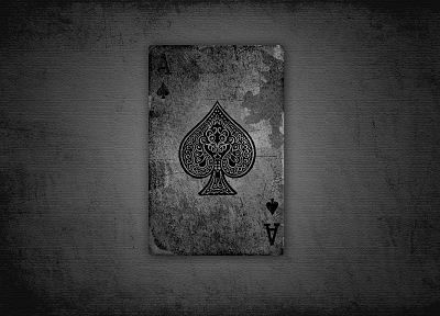 cards, grunge, ace of spades - related desktop wallpaper