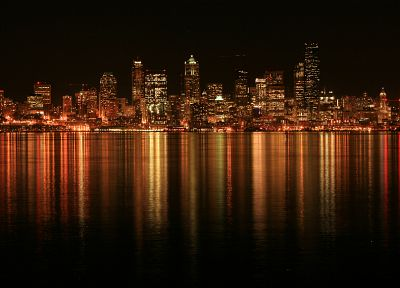 cityscapes, architecture, buildings, city lights - desktop wallpaper