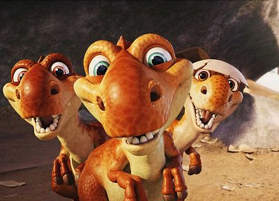 dinosaurs, CGI, Ice Age 3 - desktop wallpaper