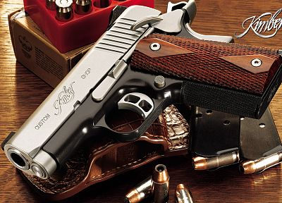 guns, weapons, ammunition, M1911, kimber - related desktop wallpaper