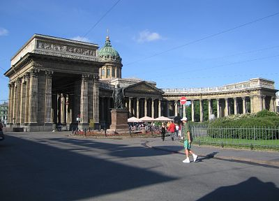 Russia, buildings, Saint Petersburg, Kazan Cathedral - random desktop wallpaper