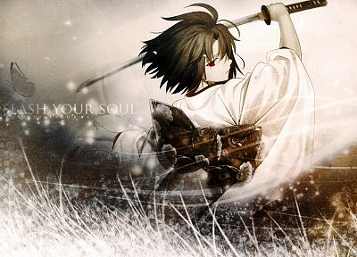 Kara no Kyoukai, Ryougi Shiki, Japanese clothes, swords - related desktop wallpaper