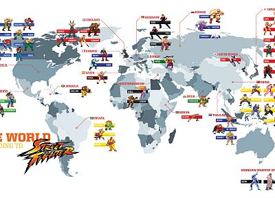 video games, Street Fighter, worldmap, maps - desktop wallpaper