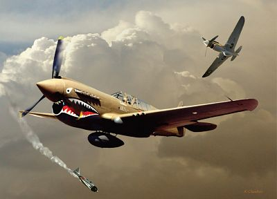 P40 Warhawk - random desktop wallpaper
