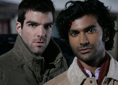 Heroes (TV Series), Zachary Quinto, Sendhil Ramamurthy - random desktop wallpaper