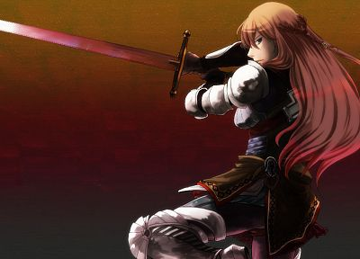 Vocaloid, Megurine Luka, swords - random desktop wallpaper