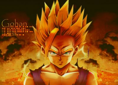 Gohan, anime boys, Son Gohan, Dragon Ball Z, Super Saiyan, Dragonball, Sangohan - random desktop wallpaper