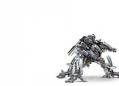 Transformers, movies, simple background, white background - random desktop wallpaper