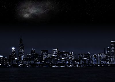 cityscapes, night, city skyline - random desktop wallpaper