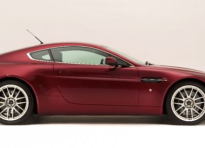 cars, Aston Martin, vehicles, tires, side view, Aston Martin V8 Vantage - random desktop wallpaper