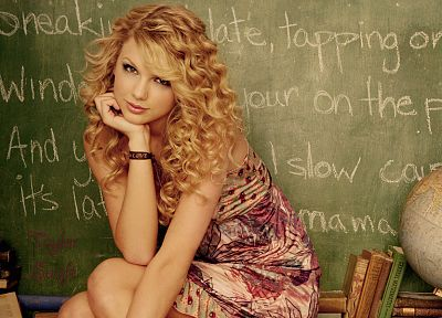 women, Taylor Swift, celebrity, singers, chalkboards - random desktop wallpaper