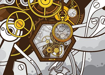 abstract, vectors, clocks, clockwork, machinery, JThree Concepts, cogs, Jared Nickerson - random desktop wallpaper