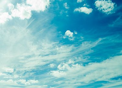 blue, clouds, summer, skyscapes - desktop wallpaper
