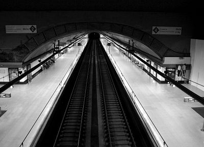 subway, train stations, grayscale, monochrome - related desktop wallpaper